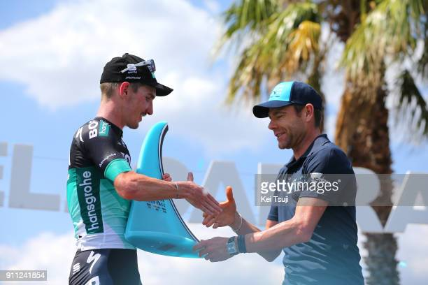 4th Cadel Evans Great Ocean Road Race 2018 / Men Podium / Jay MCCARTHY / Cadel EVANS / Celebration / Trophy / Geelong Waterfront Geelong Waterfront /...