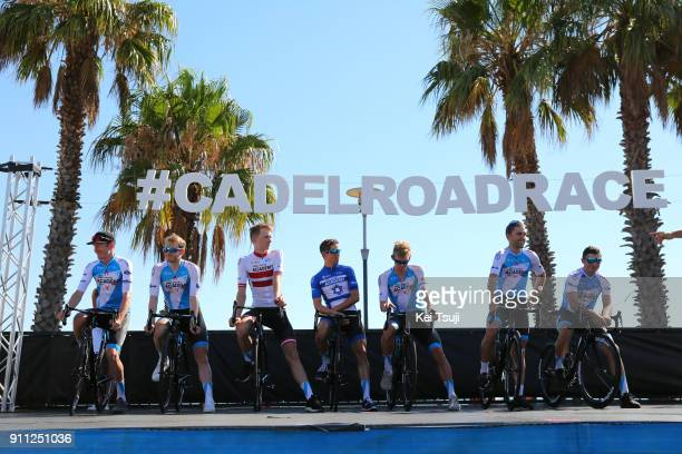4th Cadel Evans Great Ocean Road Race 2018 / Men Start / Podium / Team Israel Cycling Academy / Zakkari DEMPSTER / Nathan EARLE / Roy GOLDSTEIN /...