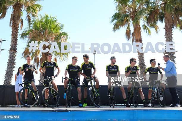 4th Cadel Evans Great Ocean Road Race 2018 / Men Start / Podium / Team MitcheltonScott / Daryl IMPEY / Jhoan Esteban CHAVES / Mathew HAYMAN / Michael...