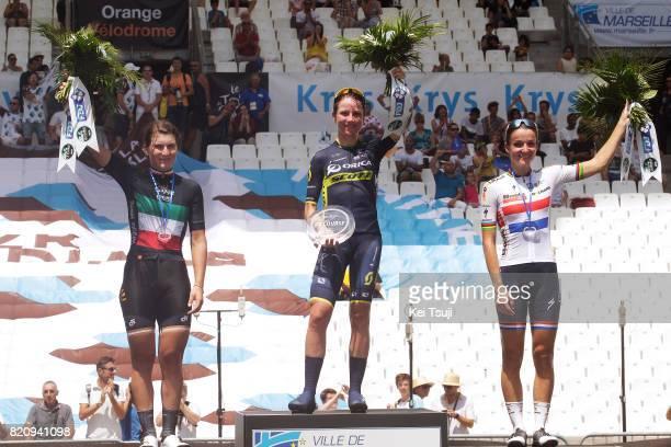 4th La Course 2017 by Le Tour de France / Stage 2 Podium / Elisa LONGO BORGHINI / Annemiek VAN VLEUTEN / Lizzie Elizabeth ARMITSTEADDEIGNAN /...