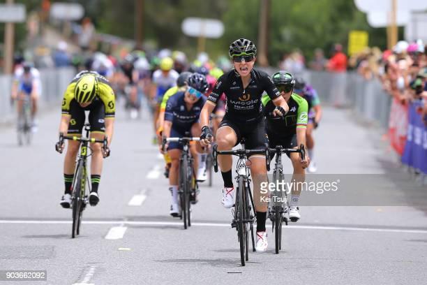 4th Santos Women's Tour 2018 / Stage 1 Arrival / Sprint / Annette EDMONDSON / Celebration / Giorgia BRONZINI / Sarah ROY / Gumeracha Gumeracha /...