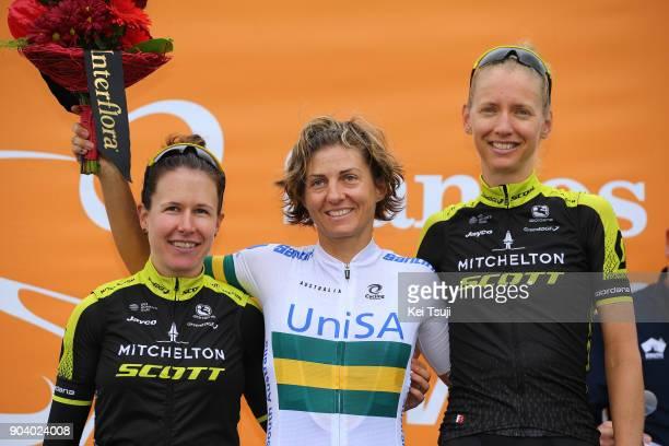 4th Santos Women's Tour 2018 / Stage 2 Podium / Amanda SPRATT / Katrin GARFOOT / Lucy KENNEDY / Celebration / Lyndoch Mengler's Hill 450m / Women /...