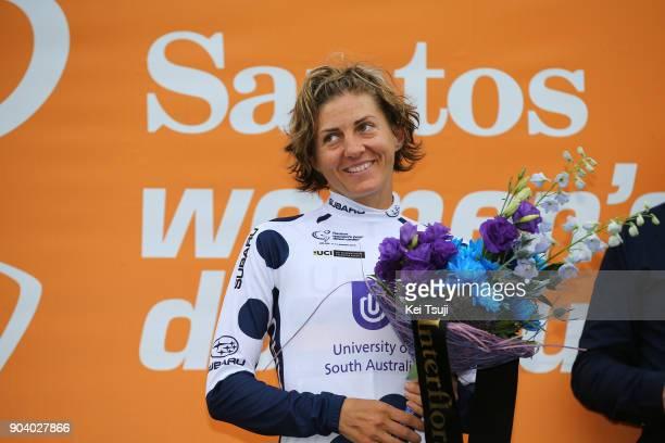 4th Santos Women's Tour 2018 / Stage 2 Podium / Katrin GARFOOT / Polka Dot Mountain Jersey / Celebration / Lyndoch Mengler's Hill 450m / Women / TDU /