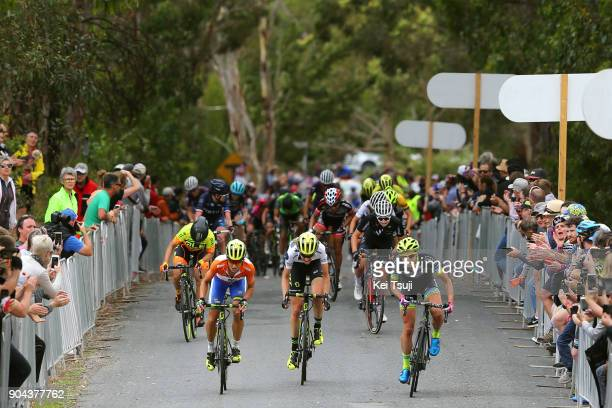 4th Santos Women's Tour 2018 / Stage 3 Arrival / Katrin GARFOOT Orange Leader Jersey / Lucy KENNEDY Polka Dot Mountain Jersey / Emma GRANT / The Bend...