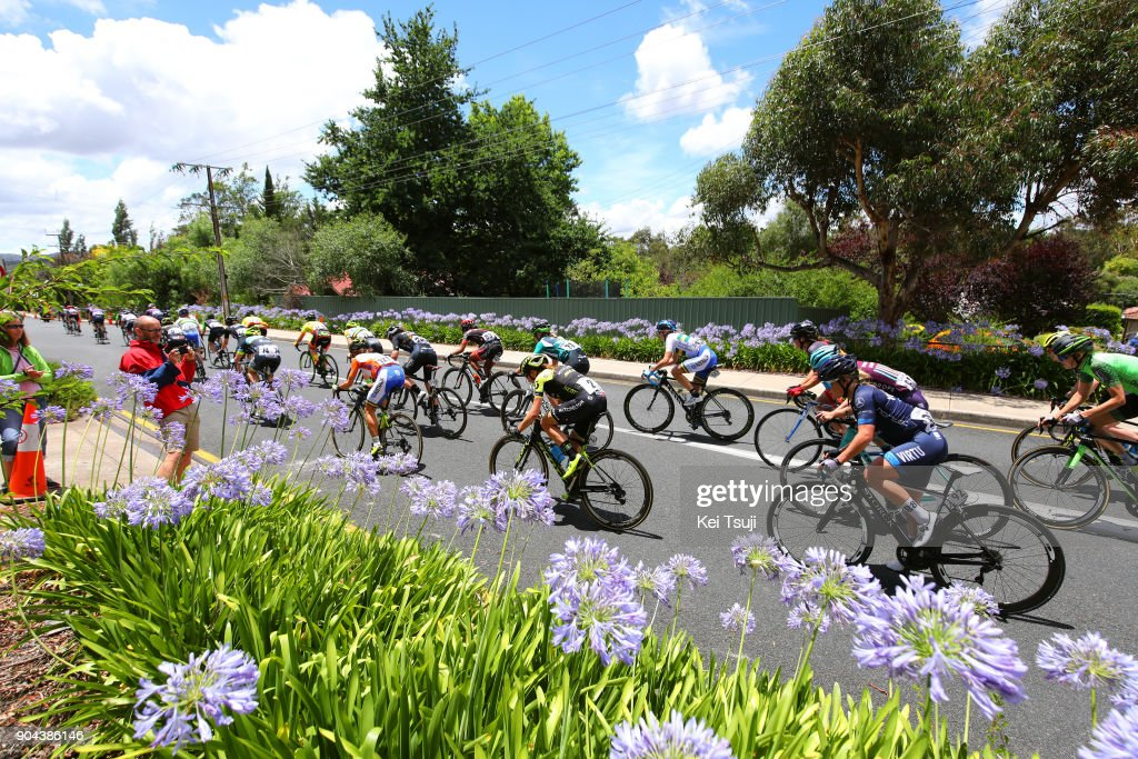 4th Santos Women's Tour 2018 / Stage 3 Peloton / Annemiek VAN VLEUTEN (NED)/ Katrin GARFOOT (AUS) Orange Leader Jersey / The Bend Motorsport Park - Hahndorf (122,4km) / Women / TDU /