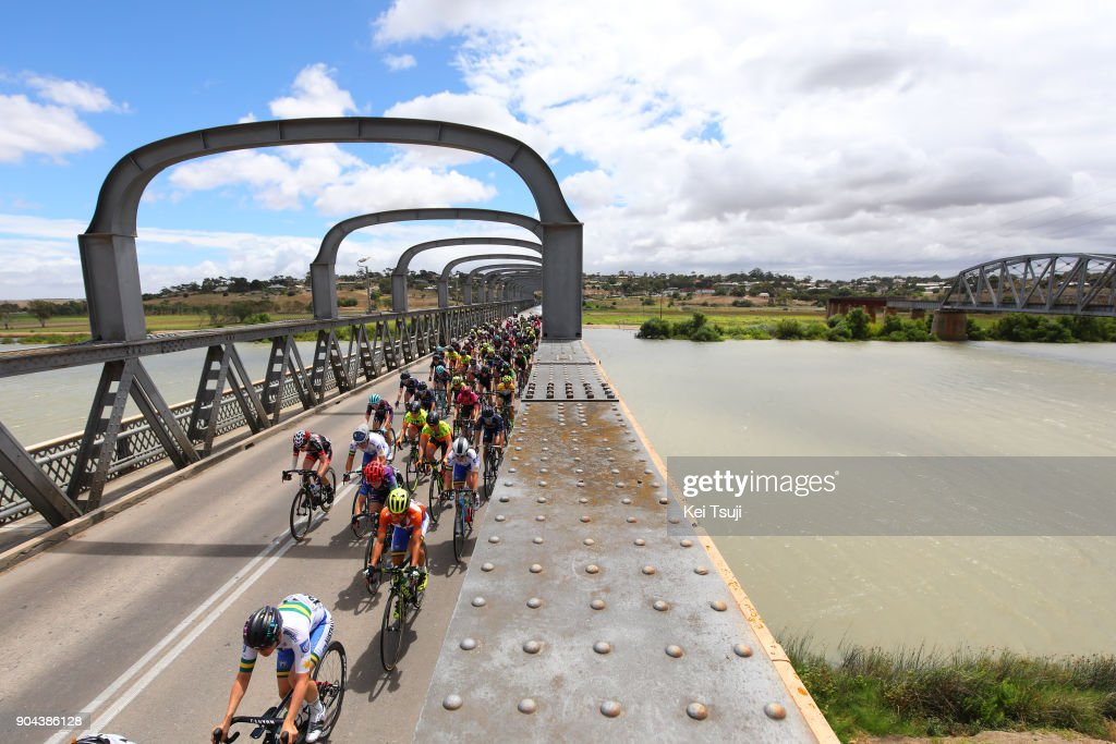 4th Santos Women's Tour 2018 / Stage 3 Peloton / Landscape / Murray Bridge / Katrin GARFOOT (AUS) Orange Leader Jersey / The Bend Motorsport Park - Hahndorf (122,4km) / Women / TDU /