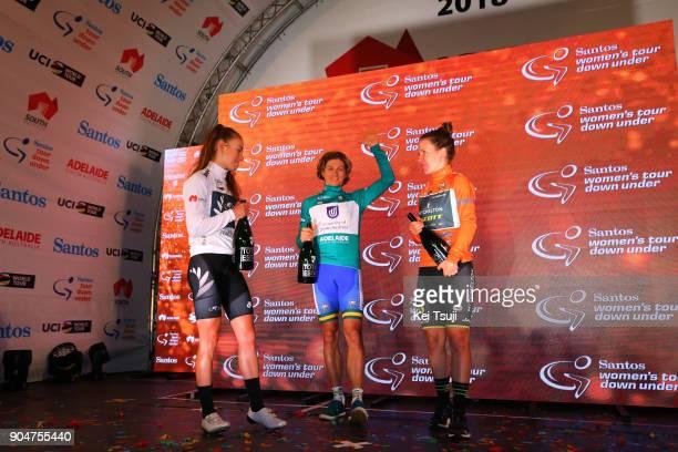 4th Santos Women's Tour 2018 / Stage 4 Podium / Amanda SPRATT Orange Leader Jersey / Katrin GARFOOT Green Sprint Jersey / Grace ANDERSON White Best...