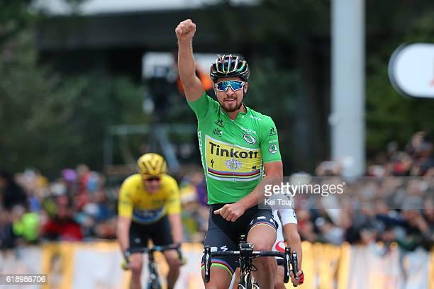 4th Tour de France Saitama Criterium 2016 Arrival / Peter SAGAN Green Sprint Jersey Celebration / Sho HATSUYAMA / Yellow Leader Jersey / Saitama -...
