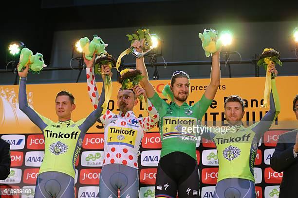 4th Tour de France Saitama Criterium 2016 Podium / Best Team Classification / Team Tinkoff / Peter SAGAN Green Sprint Jersey / Rafal MAJKA Polka Dot...