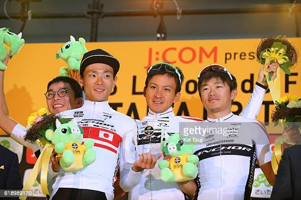 4th Tour de France Saitama Criterium 2016 Podium / Best Japanese Team / Team Bridgestone Anchor / Sho HATSUYAMA / Ryota NISHIZONO / Kohei UCHIMA /...