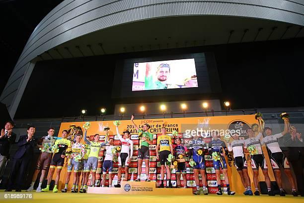 4th Tour de France Saitama Criterium 2016 Podium / Peter SAGAN Green Sprint Jersey / Sho HATSUYAMA / Christopher FROOME Yellow Leader Jersey / Marcel...