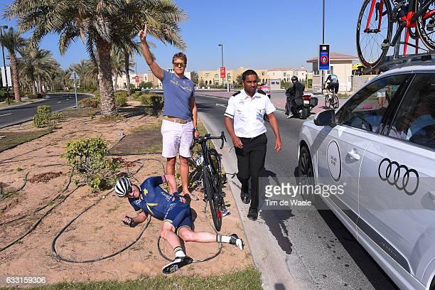 4th Tour Dubai 2017 / Stage 1 Lars Petter NORDHAUG / Crash / Injury / Dubai - Palm Jumeirah / Nakhell Stage / Dubai Tour /