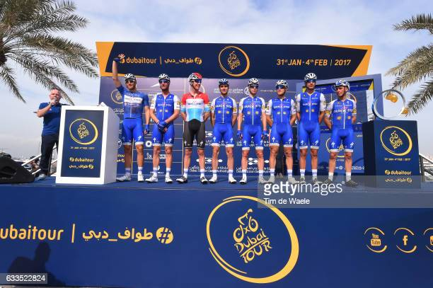 4th Tour Dubai 2017 / Stage 3 Start / Podium / Marcel KITTEL Blue Leader Jersey/ Julian ALAPHILIPPE / Bob JUNGELS / Davide MARTINELLI / Fabio...