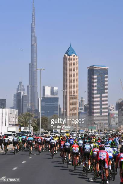 4Th Tour Dubai 2017 Stage 5Landscape Dubai City Peloton Burj Kahlifa/ Skyline/ DubaiDimc DubaiCity Walk Meraas Stage Dubai Tour