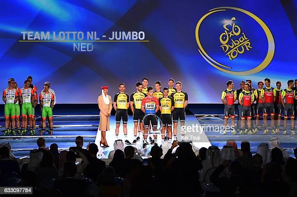 4th Tour Dubai 2017 / Teams Presentation Astana Pro Team / Zhandos Team Lotto NL Jumbo / Dylan GROENEWEGEN / Grondahl Amund JANSEN / Tom LEEZER /...