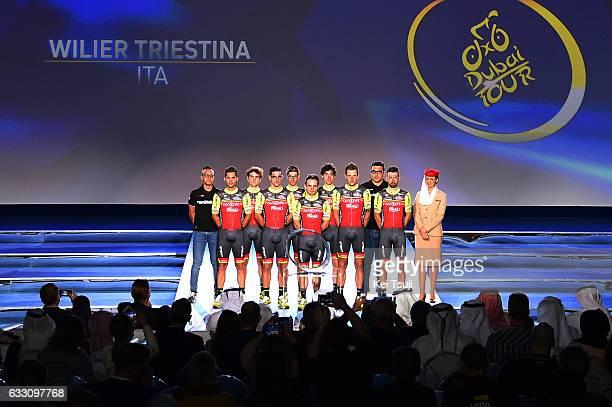 4th Tour Dubai 2017 / Teams Presentation Wilier Triestina / Jakub MARECZKO / Rafael ANDRIATO / Liam BERTAZZO / Matteo BUSATO / Alberto CECCHIN /...