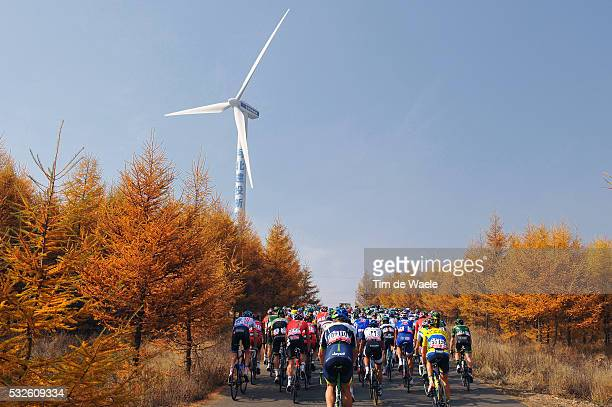 4th Tour of Beijing 2014 / Stage 1 Illustration Illustratie / Peleton Peloton / HE SHUN DING 1940m Forest Bois Bos / Landscape Paysage Landschap /...