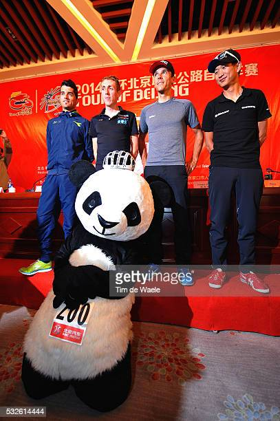 4th Tour of Beijing 2014 / Team Presentation Benat INTXAUSTI ELORRIAGA / Daniel MARTIN / Philippe GILBERT / Cheng JI / Panda Bear Mascotte / Press...