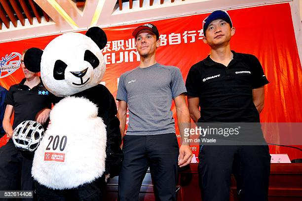 4th Tour of Beijing 2014 / Team Presentation Philippe GILBERT / Cheng JI / Panda Bear Mascotte / Press Conference Persconferentit PC / Presentation...