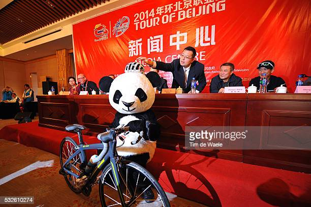 4th Tour of Beijing 2014 / Team Presentation ZHENWEN HAI / Panda Bear Mascotte / Illustration Illustratie / Press Conference Persconferentit PC /...