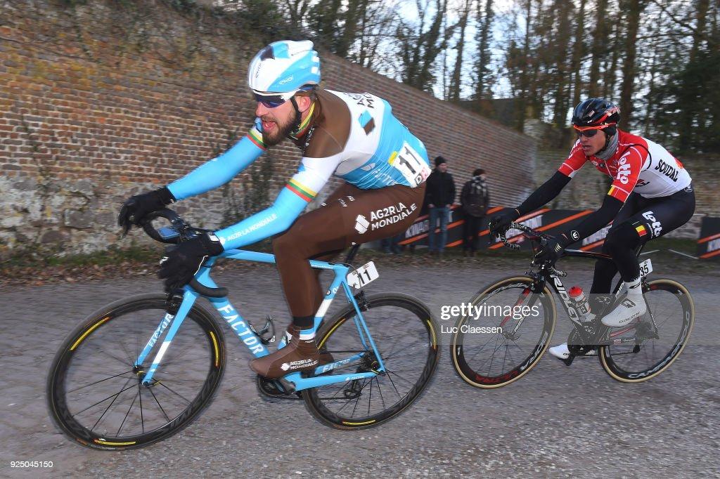50th Grand Prix Le Samyn 2018 Gediminas Bagdonas of Lithuania / Lawrence Naesen of Belgium / Quaregnon - Dour (200km)/ Men / GP Samyn /