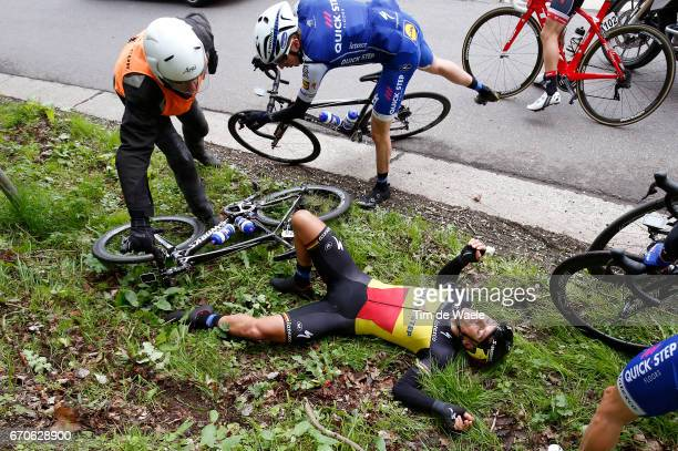 52nd Amstel Gold Race 2017 / Men Philippe GILBERT Crash / Daniel MARTIN / Maastricht Valkenburg / Men /