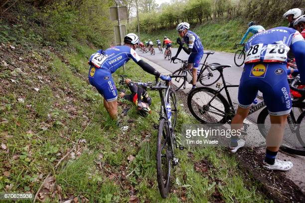 52nd Amstel Gold Race 2017 / Men Philippe GILBERT Crash / Daniel MARTIN / Dries DEVENYNS / Maximilian SCHACHMANN / Maastricht Valkenburg / Men /