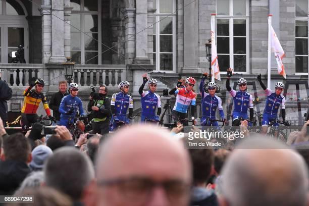 52nd Amstel Gold Race 2017 / Men Start / Podium / Philippe GILBERT / Gianluca BRAMBILLA / Dries DEVENYNS / Zdenek STYBAR / Bob JUNGELS / Daniel...