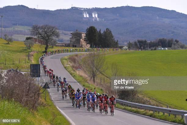 52nd Tirreno-Adriatico 2017 / Stage 2 Jean-Pierre DRUCKER / Peloton / Landscape / Camaiore - Pomarance 364m /