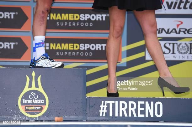 52nd TirrenoAdriatico 2017 / Stage 2 Podium / Bob JUNGELS White Young Jersey / Celebration / Miss Hostess / Illustration / Legs / Camaiore Pomarance...