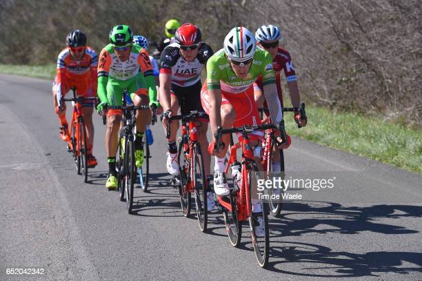 52nd Tirreno-Adriatico 2017 / Stage 4 Davide BALLERINI Green Mountain Jersey/ Marko KUMP / Mirco MAESTRI / Alan MARANGONI / Montalto di Castro -...
