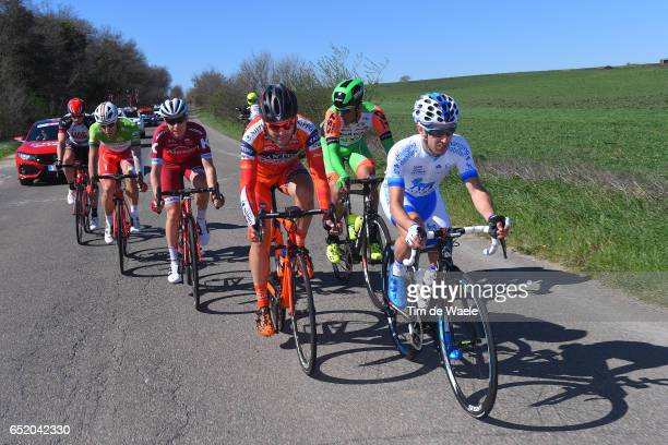 52nd Tirreno-Adriatico 2017 / Stage 4 Romain GIOUX / Alan MARANGONI / Mirco MAESTRI / Matvey MAMYKIN / Davide BALLERINI Green Mountain Jersey/ Marko...