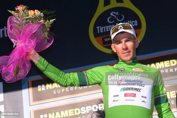 52nd TirrenoAdriatico 2017 / Stage 6 Podium / Davide BALLERINI Green Mountain Jersey/ Celebration / Ascoli Piceno Civitanova Marche /