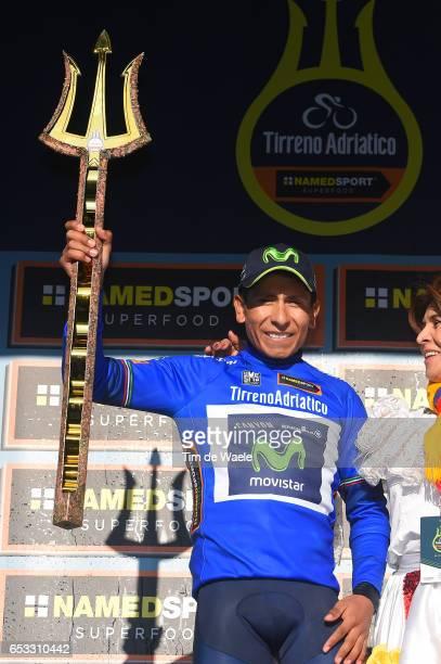 52nd TirrenoAdriatico 2017 / Stage 7 Podium / Nairo QUINTANA Blue Leader Jersey / Celebration / Trophy/ San Benedetto Del Tronto San Benedetto Del...