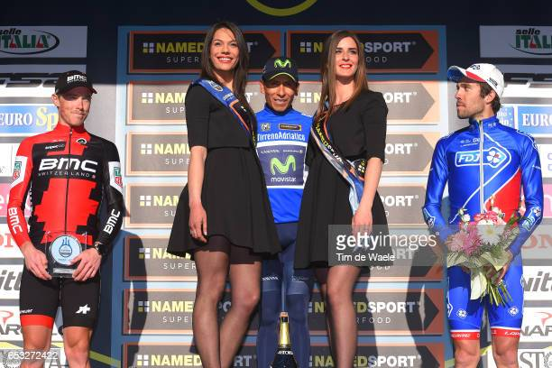 52nd TirrenoAdriatico 2017 / Stage 7 Podium / Rohan DENNIS Nairo QUINTANA Blue Leader Jersey/ Thibaut PINOT / Celebration / San Benedetto Del Tronto...
