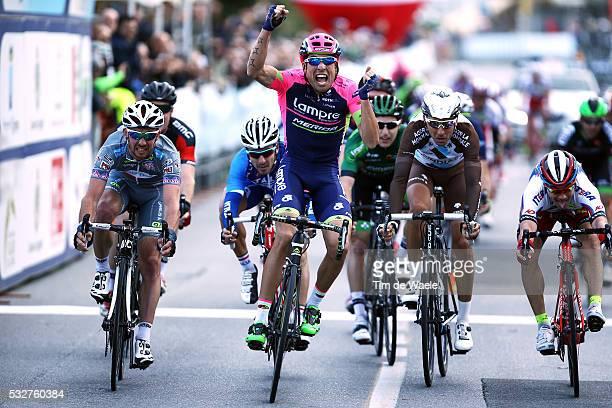 52th Trofeo Laigueglia 2015 Arrival/ Davide CIMOLAI Celebration Joie Vreugde/ Francesco GAVAZZI / Alexey TSATEVICH / LaiguegliaLaigueglia / Tim De...