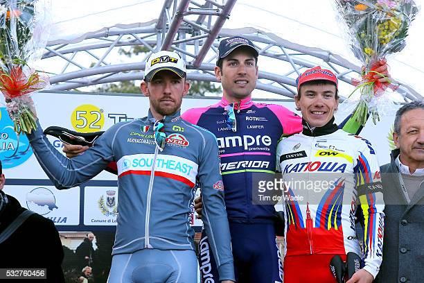 52th Trofeo Laigueglia 2015 Podium/ Francesco GAVAZZI / Davide CIMOLAI / Alexey TSATEVICH / Celebration Joie Vreugde/ LaiguegliaLaigueglia / Tim De...