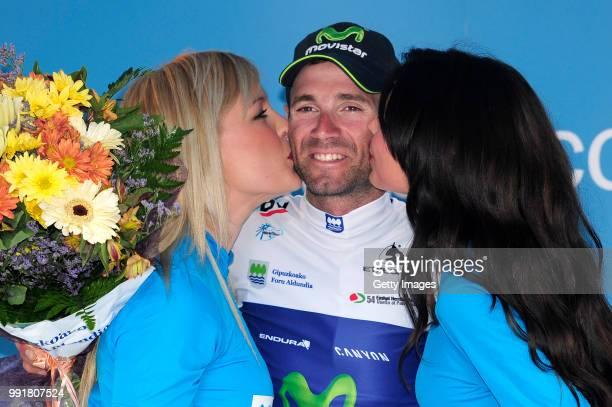 54Th Vuelta Pais Vasco 2014/ Stage 5Podium/ Alejandro Valverde White Jersey/ Celebration Joie Vreugde/ Eibar Xemein Tour Ronde Baskenland/ Etape Rit/...