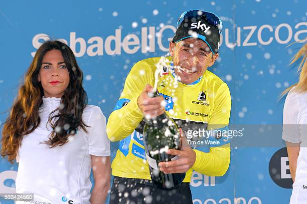 54th Vuelta Pais Vasco 2015/ Stage 5 Podium/ Luis HENAO Yellow Leader Jersey/ Celebration Joie Vreugde / EibarAia Tour Ronde Baskenland/ Etape Rit/...