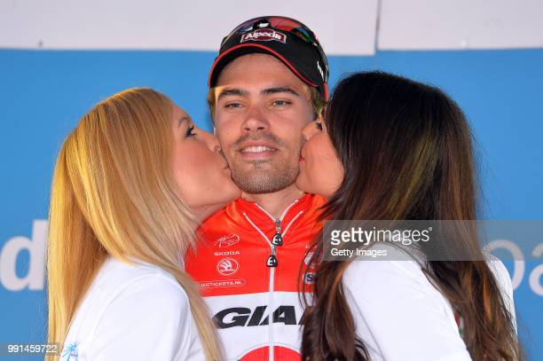 54Th Vuelta Pais Vasco 2015/ Stage 6Podium/ Tom Dumoulin Podium/ Celebration Joie Vreugde /AiaAia Time Trial Contre La Montre Tijdrit Itt/ Tour Ronde...