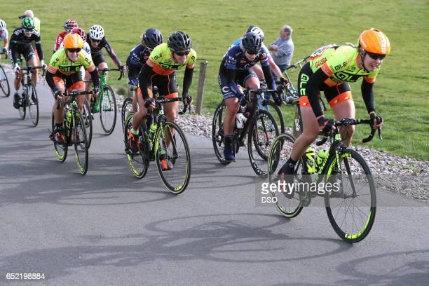 55th Ronde van Drenthe 2017 / Women Chloe HOSKING / Janneke ENSING / Romy KASPER / Hoogeveen Hoogeveen / Women / ©Tim De WaeleDSO/Tim De Waele/Corbis...