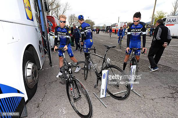 56th Vuelta Pais Vasco 2016 / Stage 3 Illustration Illustratie/ Team EtixxQS / Team Bus/ Bikes/ MEERSMAN Gianni / SERRY Pieter / VitoriaGasteiz...