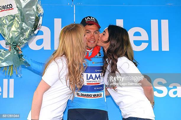 56th Vuelta Pais Vasco 2016 / Stage 3 Podium/ DENIFL Stefan Blue Jersey/ Celebration Joie Vreugde / Vitoria-Gasteiz - Lesaka / Tour Ronde Baskenland/...