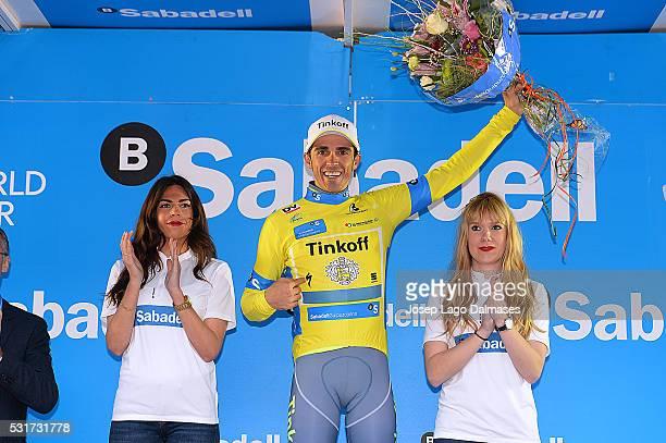 56th Vuelta Pais Vasco 2016 / Stage 6 Podium/ CONTADOR Alberto Celebration Joie Vreugde/ Champagne/ Eibar - Eibar / Tour Ronde Baskenland/ Time Trial...