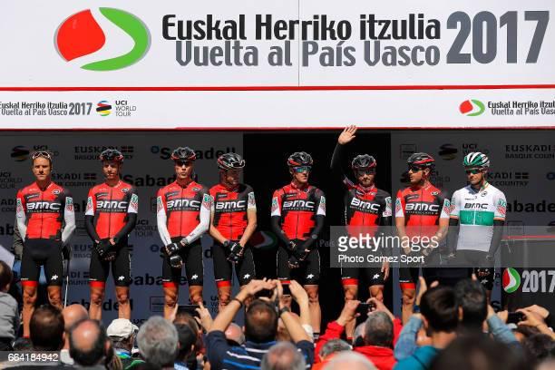 57th Vuelta Pais Vasco 2017 / Stage 1 Start / Podium / Damiano Caruso / Nicolas ROCHE / Samuel SANCHEZ / Dylan TEUNS / Alessandro DE MARCHI / Amael...