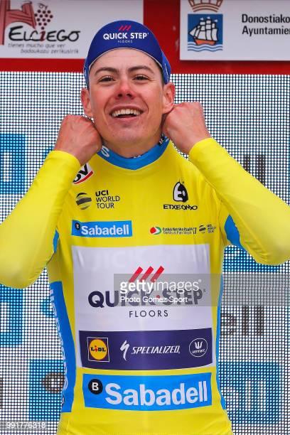 57Th Vuelta Pais Vasco 2017 Stage 3Podium David De La Cruz Yello Leader Jersey Celebration Gasteiz Donostia Tour Of Basque Country Euskal Herriko...