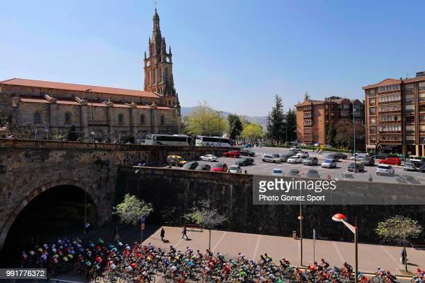57Th Vuelta Pais Vasco 2017 Stage 5Landscape Peloton City Church Bilbao EibarUsartzako 580M Tour Of Basque Country Euskal Herriko Itzulia