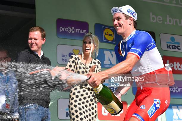5th Brussels Cycling Classic 2017 Podium / Arnaud DEMARE Champagne Celebration / Brussels Brussels /