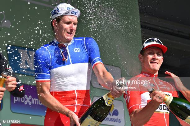 5th Brussels Cycling Classic 2017 Podium / Arnaud DEMARE Champagne / Celebration / Brussels Brussels /