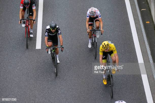 5th Tour de France Saitama Criterium 2017 Mark CAVENDISH / Christopher FROOME Yellow Leader Jersey / Warren BARGUIL Polka Dot Mountain Jersey /...